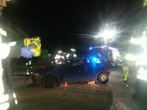 Simulierter Verkehrsunfall mit eingeklemmten Personen – Foto: S. Schreinert